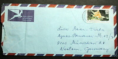 Swaziland cover to Germany    #120