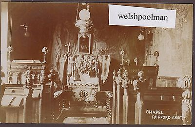 Lovely Antique Chapel Rufford Abbey Nr Ollerton Nottinghamshire Postcard