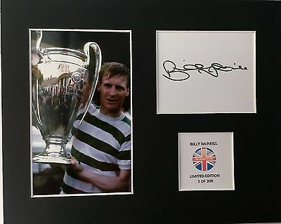 Limited Edition Billy McNeill Celtic 1967 Signed Mount Display LISBON LIONS