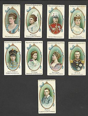 9 Original Old Gallahers, Royalty Series, Issued 1902.