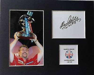 Limited Edition Martin Adams Darts Signed Mount Display WOLFIE