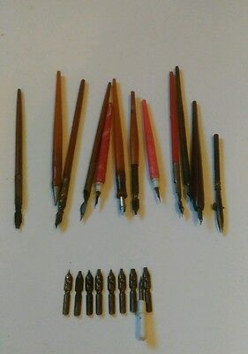 Vintage fountain pens and nibs