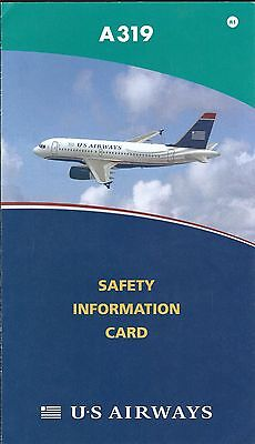Safety Card - US Airways - A319 - 2008 - Air (S3692)