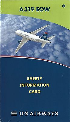 Safety Card - US Airways - A319 EOW - 2008 (S2562)