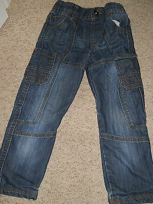 Boys Blue Lined Jeans by F&F age 5-6