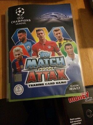 Match Attax Champions League 2016/17 Full 426 Card Set In Binder Mint All Listed