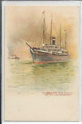 FRIESLAND  RED STAR LINE Early Issue Postcard Signed H Cassiers Super Cond