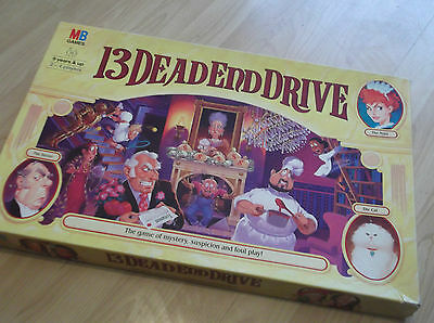 13 Dead End Drive Board Game (MB Games 1993) Complete