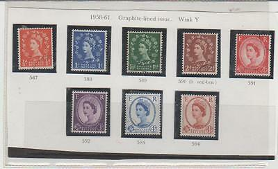 1958-60 WILDINGS 2nd GRAPHITE LINED G/USED SET OF 8