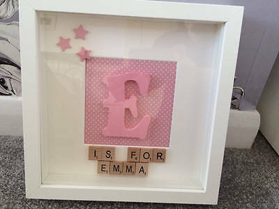 Gorgeous Personalised Large Letter Baby Girl 3D Picture Frame...