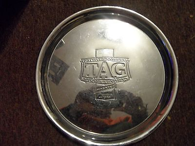 Vintage jacob stauder imported TAG lager,heavy metal Pub Tray Embossed chromed