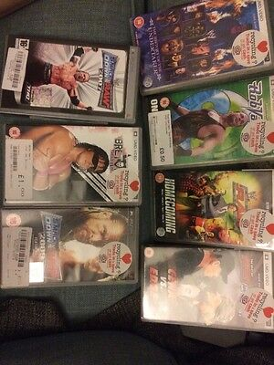 Joblot Psp Wrestling Films & Games