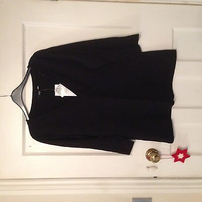Womens Black V Neck T Shirt. Size 16. New with tags