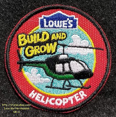 LMH PATCH Badge  HELICOPTER Emergency Chopper LOWES Build Grow Clinic Heli Red