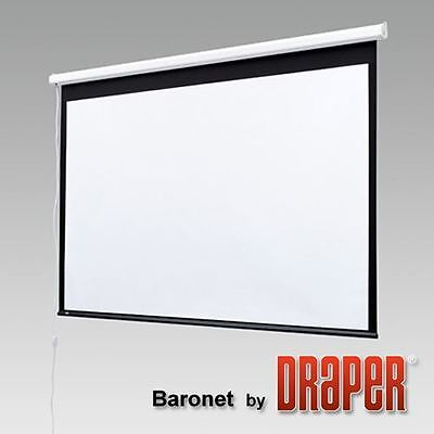 "BNIB DRAPER BARONET 131029 70"" Matte White Electric Wall Mount Projector Screen"