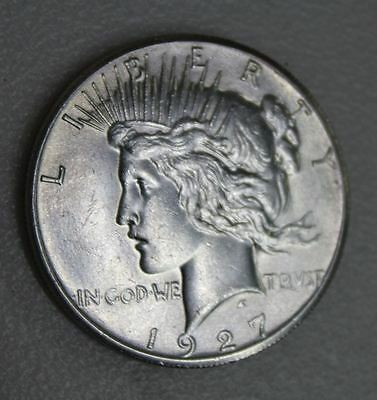 U.S. MINT Vintage 1927 American High Grade Collectible Peace Dollar Silver Coin