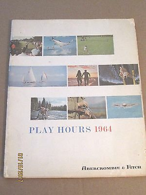 1964 ABERCROMBIE & FITCH vintage catalog~PLAY HOURS~leisure clothing,accessories