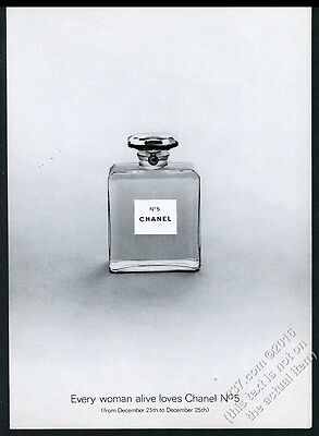 1968 Chanel No.5 perfume small bottle photo vintage print ad
