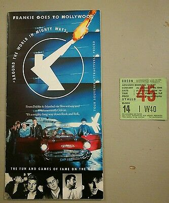 Frankie Goes to Hollywood programme Around the World in Mighty Ways+Ticket Stub