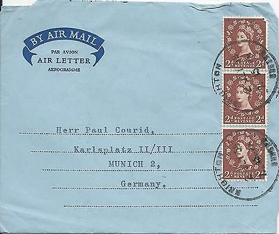 Uk Air Mail 1959 Aerogramme To Germany