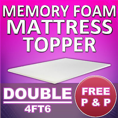 Memory Foam Mattress Topper - Double 4Ft6 Size - Free Delivery