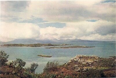 SUPERB OLD POSTCARD -  THE ISLE OF SKYE from KYLE OF LOCHALSH C.1965