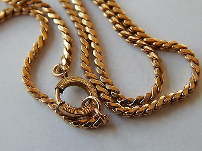 Vintage Antique Victorian Gold Filled ( Marked) Etched Clasp Gold Chain Necklac