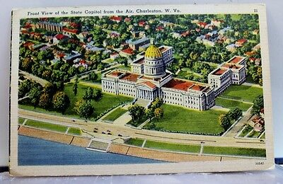 West Virginia WV Charleston State Capitol Postcard Old Vintage Card View Post PC