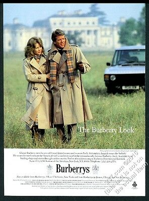 1983 Burberrys trenchcoat Lady Annunziata Asquith Lord Lichfield photo print ad