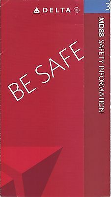 Safety Card - Delta - MD 88 - 2007 (S2262)