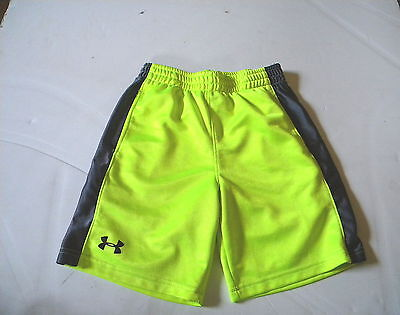 Under Armour Athletic Neon Green / Gray Shorts Boys  Size 6 #281