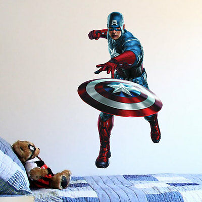 MARVEL AVENGERS ASSEMBLE CAPTAIN AMERICA Wall Sticker Children Wall sticker 23