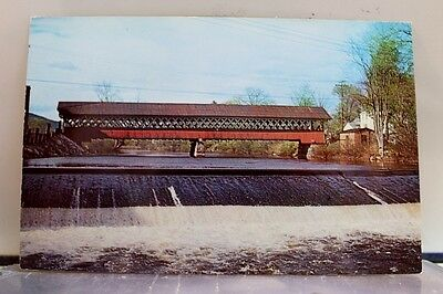 New Hampshire NH West Swanzey Covered Bridge Postcard Old Vintage Card View Post