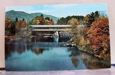 New Hampshire NH Conway Covered Bridge Postcard Old Vintage Card View Standard