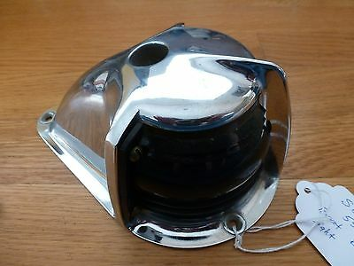 Vintage Seiss Chrome Marine Boat Bow Light Flag Pole Mount 50's 60's