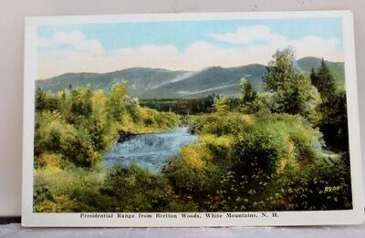 New Hampshire NH Bretton Woods Presidential Range Postcard Old Vintage Card View
