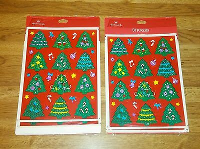 (2) NOS NIP 1992 CHRISTMAS STICKER LOT by Hallmark Cards Inc-8 Sheets of 28-Tree