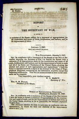1847 RIVERS, FORTS, Harbors, Roads Construction Appropriation Statements