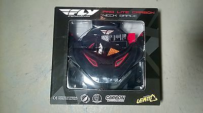 Fly racing Pro Lite Carbon neck brace size S/M New in box!  Black