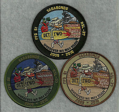 3 Different US Navy HSL-37 VAGABONDS OEF 2009-2010 Patches