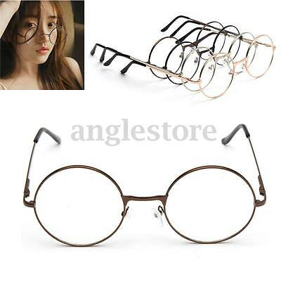 Fashion Retro Round Circle Metal Frame Eyeglasses Clear Lens Eye Glasses Unisex
