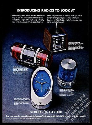 1971 General Electric Red Baron Aztec Blue Max Captain radio photo print ad