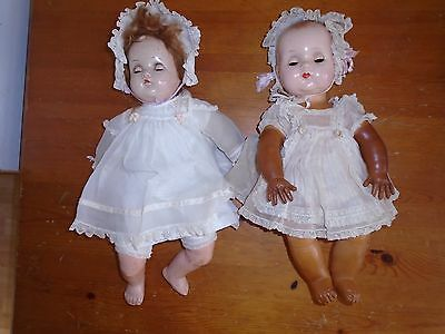 antique (2) Madame Alexander Sleepy Eye Baby Doll with clothes