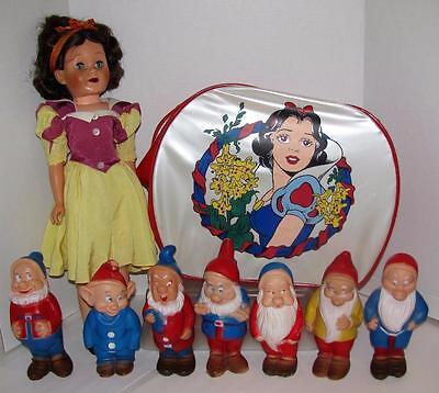 1958 Disney Productions Snow White Seven Dwarfs Deluxe Reading Topper Toys