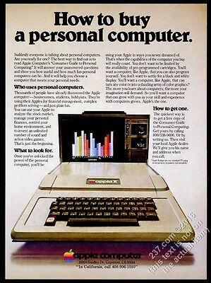 1978 Apple II computer photo How To Buy A Personal Computer vintage print ad