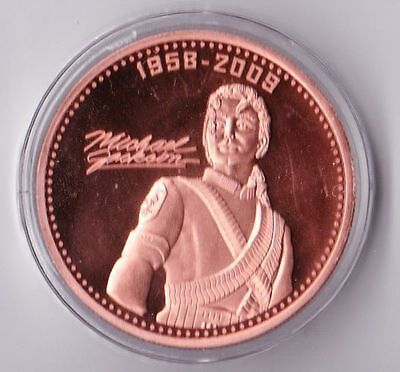 1 oz Michael Jackson copper round. Uncirculated coin .999