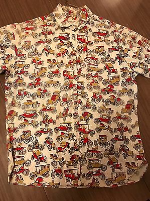 Vintage Boys Antique Auto Shirt Size 16 By The Adelaar Company.