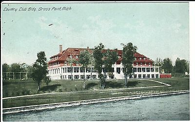 Early 1900's The Country Club Building at Grosse Pointe, MI Michigan PC