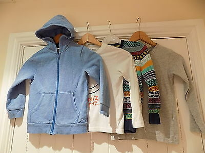 H&M / Benetton boys jumper / hoodie & 2 top size 4-5 years