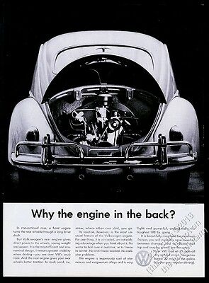 1959 VW Volkswagen Beetle classic car photo Why The Engine in the Back print ad